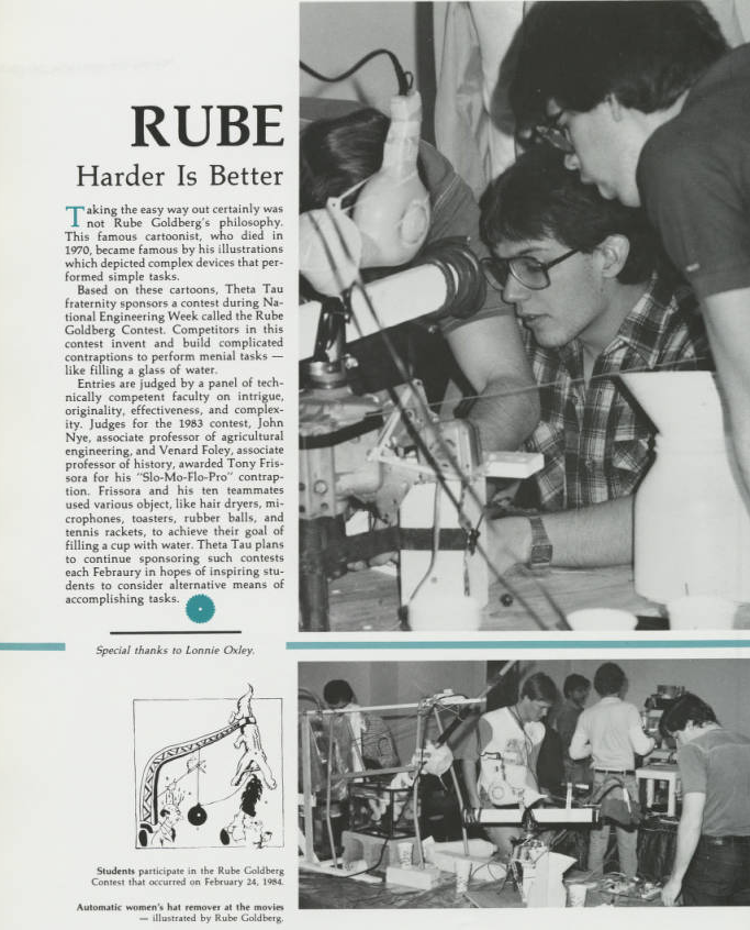 The first Debris entry for the Revived Rube Goldberg Machine Contest, 1984